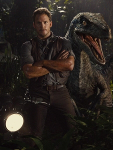 Chris Pratt and raptor